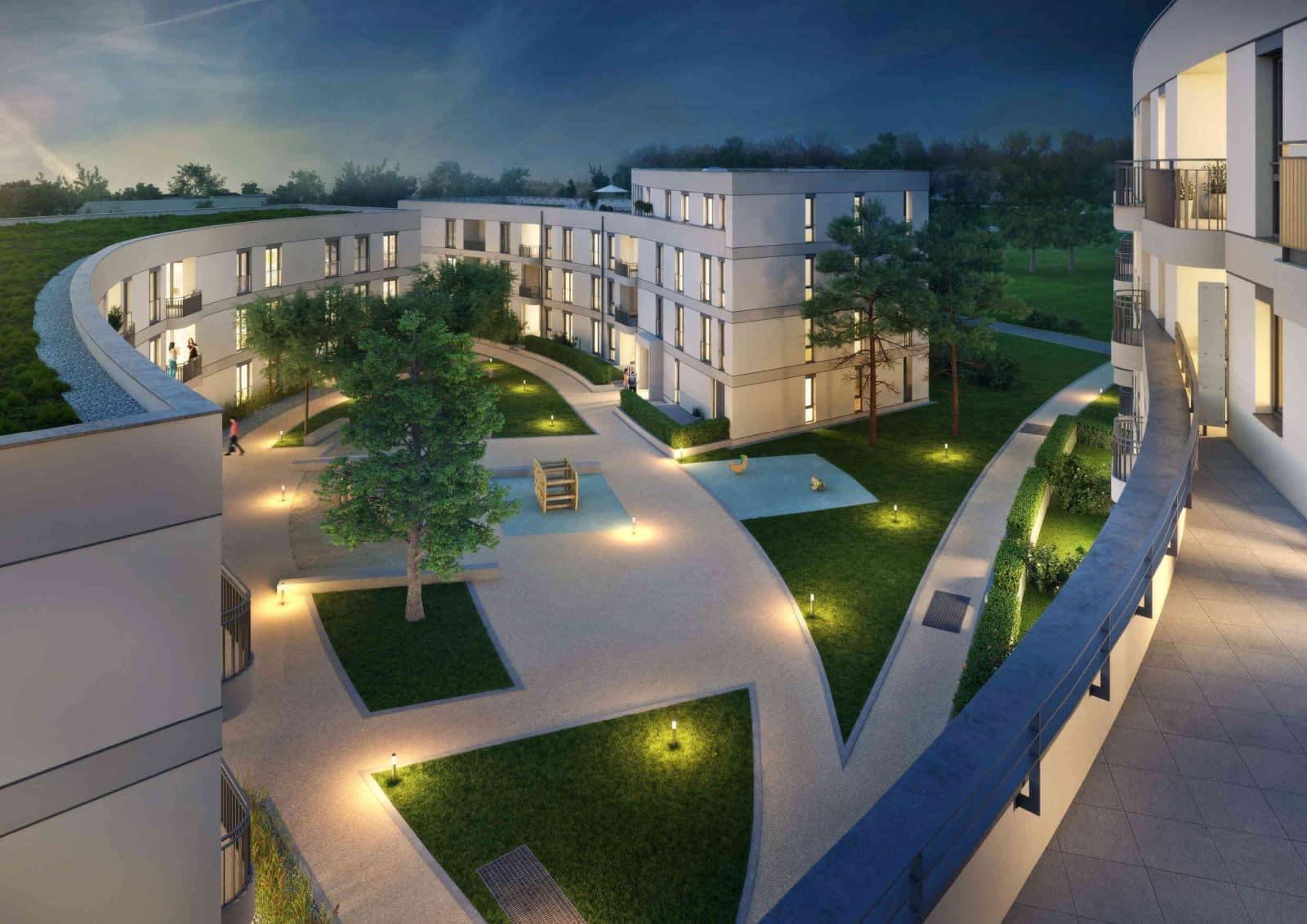 Will Architekten Visualisierung Projekt Gleisharfe Papinstraße Haus A
